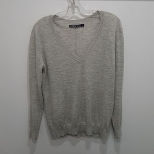 Cashmere sweater light grey size small